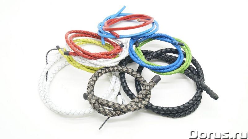 Шнурки кожаные для ювелирных изделий - Аксессуары - Шнурки кожаные (гайтаны) плетеные и круглые от п..., фото 3